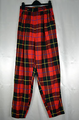 Ladies Vintage 1970's High Waisted Top Shop Tartan Trousers