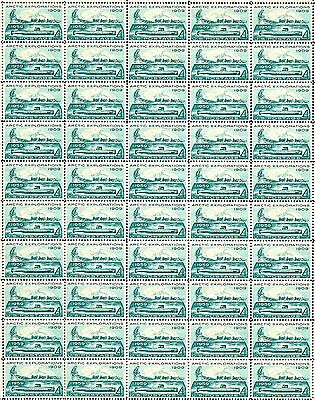 1959 - ARCTIC EXPLORATIONS - Vintage Full Mint Sheet of 50 U.S. Postage Stamps