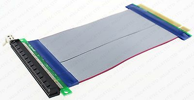 PCI-E PCI-Express 16X RISER CARD FLEXIBLE RIBBON EXTENDER EXTENSION CABLE D91