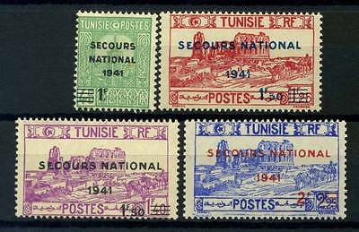 17-04-00274 - Tunisia 1941 Yv.  227-230 MNH 100% Secours National