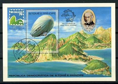 17-04-00352 - Saint Thomas and Prince Islands 1979 Mi.  Bl. 36A SS 100% US Zeppe
