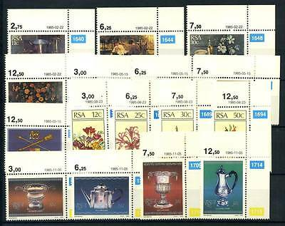 17-04-00378 - South Africa 1985 Mi.  665-681 MNH 100% Painting Monument Flowers