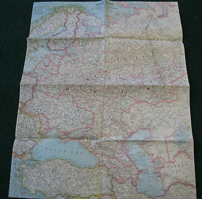 1955 Western Soviet Union National Geographic Map