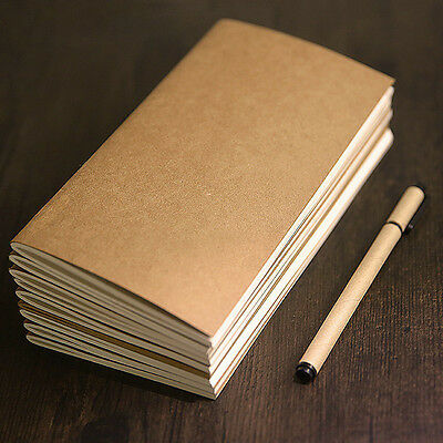 New Refillable Inner Paper for Traveler's Journal Diary 64 Pages 8.3 x 4.3 inch