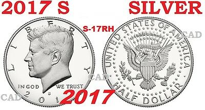 2017 S 90% Silver Kennedy Half Dollar Deep Cameo Gem Proof Coin from Set 17RH