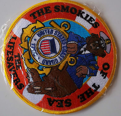 United States Coast Guard Patch White cap smokies of the sea lifesavers 4-1/2