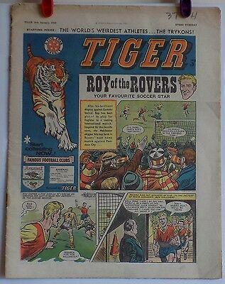 Tiger Comic 26th January 1963 – Good Condition