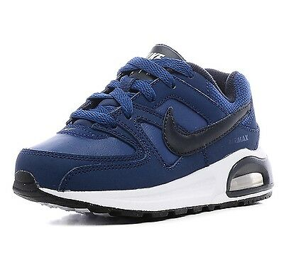 Nike Boys Air Max Command Flex Trainers Kids Blue Leather