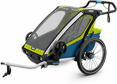Thule Chariot Sport 2 Child Trailer Chartreuse/Mykonos