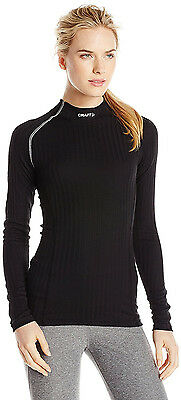 CRAFT Active Extreme Womens Crew Neck Long Sleeve Base Layer Black/Platinum LGE