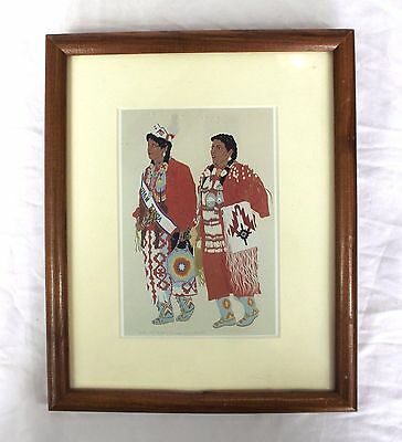 Native American Art - Matted Framed Print - Laurie Jay Houseman - Two Sisters