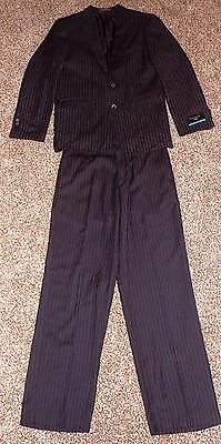 Boys DOCKERS black pinstripe 2-piece suit ( size 14 regular )  NWT  $57.00