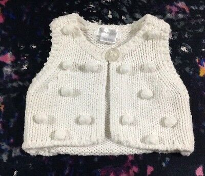 Mockingbird Baby Girls Knit Vest Newborn 0000