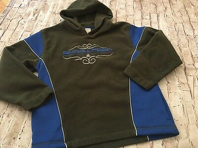 Old Navy Boys Size Large Green Blue Hoodie Winter Fall Sweater Long Sleeve