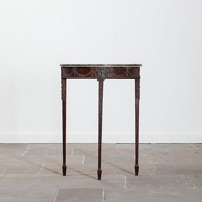 Late 19th Century Neo Classical Style Demi Lune Console Table. Side Table.