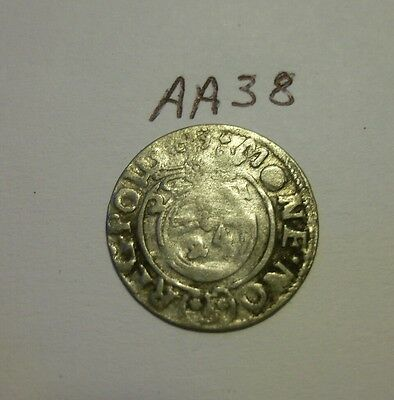 1600s silver medieval coin. (aa38)