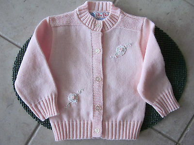 Vintage Pink Baby Sweater by Blue Bird