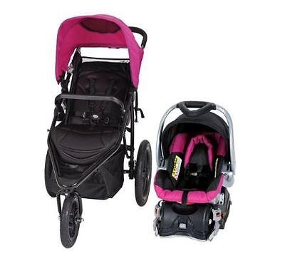 Jogging Stroller Travel Systems And Car Seat Combo Baby Trend Infant Child Girl