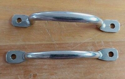 Two (2) Vintage CHROME Small Pull Drawer Cabinet Handle
