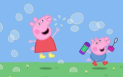Peppa Pig George Playing Bubbles Kids Poster A4 A3 A2 A1 Gift Present NCI0044