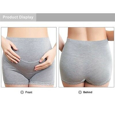 Pregnant Women Maternity Underwear Briefs Bamboo charcoal Soft Panties Grey L