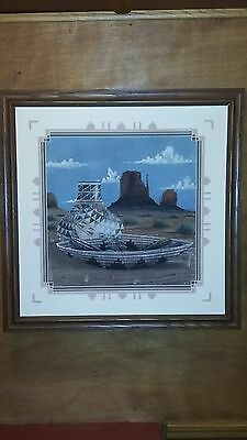 Sand Painting by renown Navajo artist Harvey War Eagle Begay