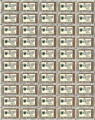 1960 - BENJAMIN FRANKLIN - CREDO - Vintage Mint Sheet of 50 U.S. Postage Stamps