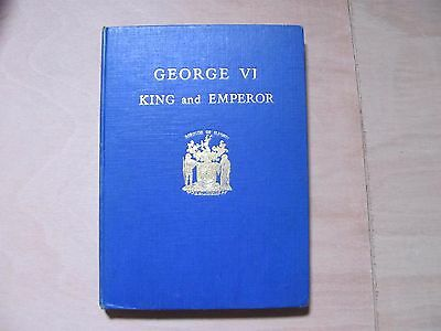 George VI king and emperor, 1937 book, presented to the pupils of Ilford.