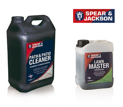 5L Spear&Jakcson Path and Patio Cleaner +2.5 Lawn Master Concentrated Fertiliser
