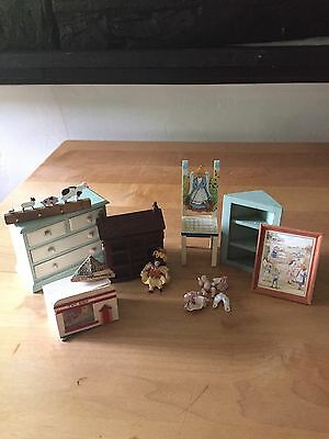 Doll House 12th Scale Miniature Mixed Lot Of Nursery Furniture