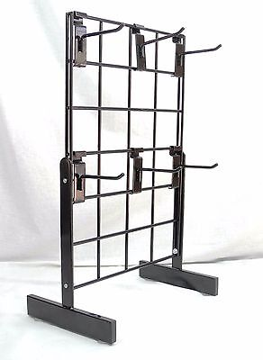 Countertop Wire Gridwall Tradeshow Expandable Display Stand 20 x 13 and Hooks