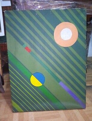 Auguste Herbin - Antique Oil on canvas Painting signed - Vintage Work