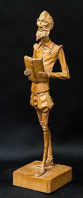 "Vintage Don Quixote Ouro Artesania Wood Carving~Stands 7.5"" tall~N6 576"