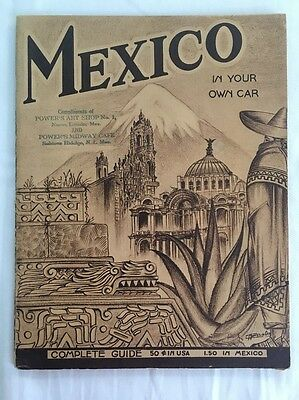 Mexico in Your Own Car Motorist Guide Mobil Mobiloil MobilGas Mobilgrease 1936