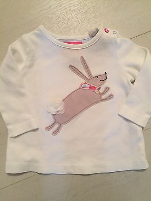 Cute Joules 6-9 Month Top With Leaping Bunny