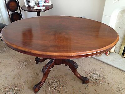Antique Mahogany Oval Tilt Top Breakfast Table