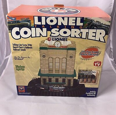 Lionel Talking Coin Sorter in Original Box/ Instructions & Certificate included