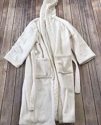 Restoration Hardware Baby And Child Ivory Plush Robe Size 6-7 #2tt
