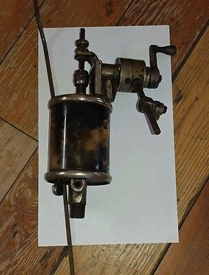 Antique Brass Steam Gas Engine Oiler Positive Mechanical Feed Lubricator Clutch