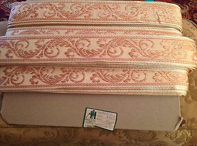 Vintage 1930 French Machine Embroidered Ribbon Trim Pillows Curtains Cushions