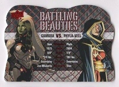 2016 Upper Deck Marvel Gems battling beauties BB-9 Gamora vs. Phyla-Vell