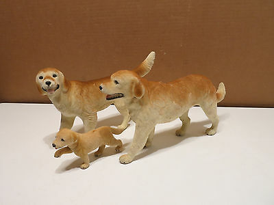 Vintage RARE Family GOLDEN RETRIEVER DOG figures Toys Lifelike Breed ~ New-Ray?