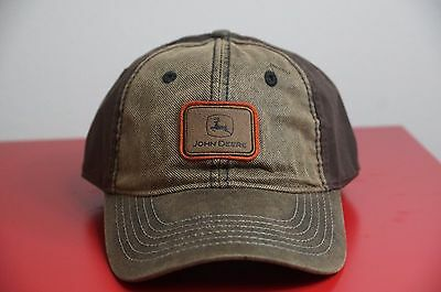 Brand New John Deere JD Cap Hat Tractor Farm Combine Brown