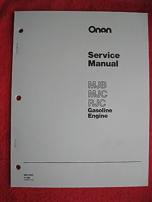 Onan Mjb, Mjc, & Rjc Gas Engine Service Manual