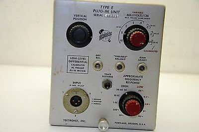 Tektronix Type E, Plug-In Unit (amm)