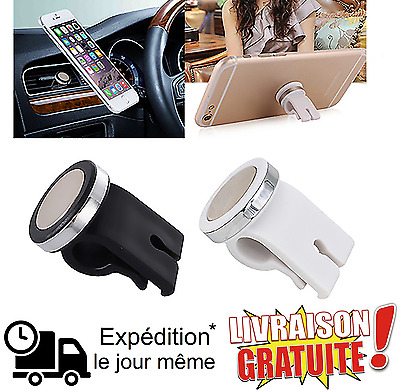 Support voiture magnétique aimant pour smartphone Apple Samsung Sony Nokia Wiko