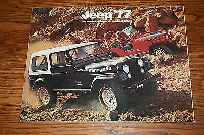 1977 Jeep Colorful Advertising Sales Brochure