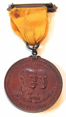 Springfield, Massachusetts 1902 50th Anniversary Of Incorporation Medal w/Ribbon