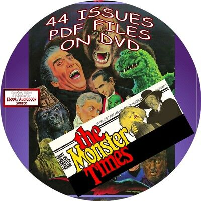 Monster Times Vintage Magazine/comic Book - 62 Issues - Pdf Files-On Dvd-Horror