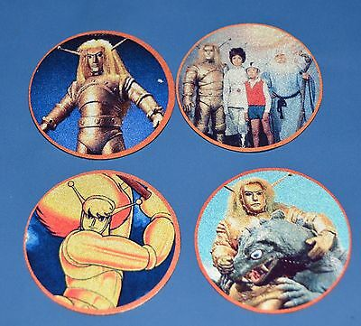 4 Round Metal Figurines Card The Space Giant Goldar Collectible Tv Serie Japan
